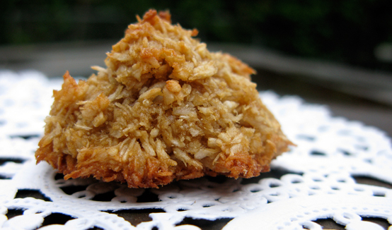 Coconut Maple Macaroons, Honest Fare by Gabrielle Arnold