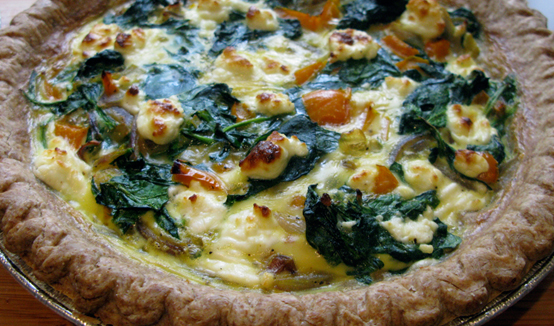 Spring Forward Quiche, Honest Fare by Gabrielle Arnold