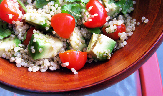 A complete meal: Quinoa Salad, Honest Fare by Gabrielle Arnold