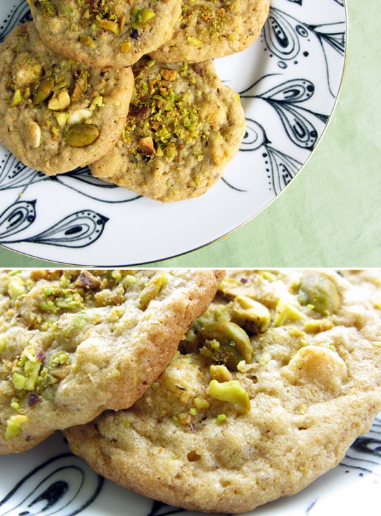 Pistachio Oat & White Chocolate Chip Cookies, Honest Fare by Gabrielle Arnold
