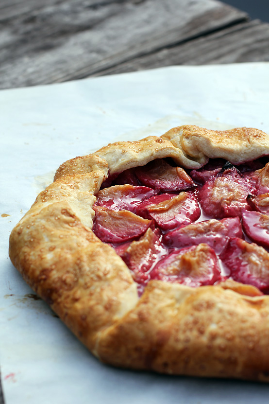 Plum Galette, Honest Fare by Gabrielle Arnold