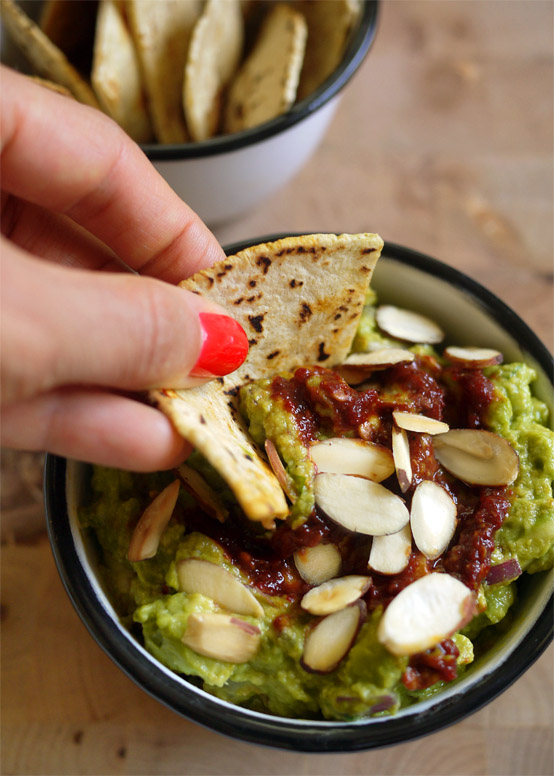 Chipotle Guacamole & Grilled Tortilla Chips., Honest Fare by Gabrielle Arnold
