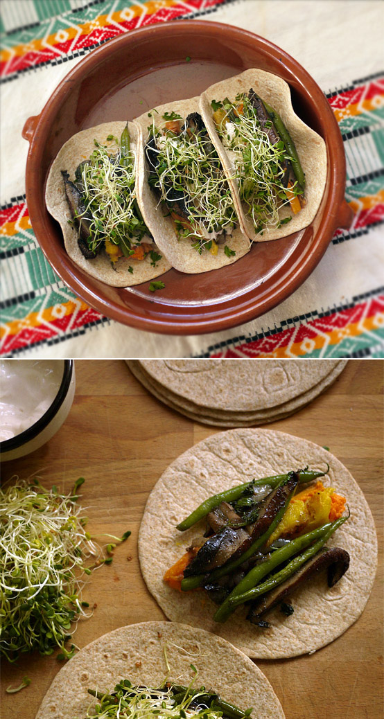Hearty Veggie Tacos, Honest Fare by Gabrielle Arnold