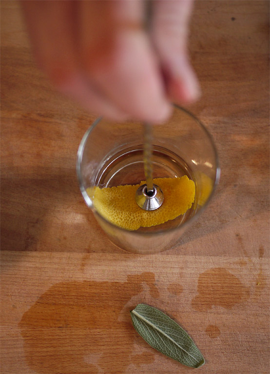 lemon rind cocktail
