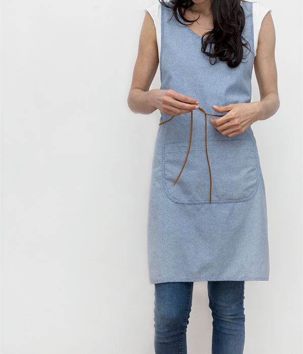 cooking smock-blue-front-honestfare apron collection