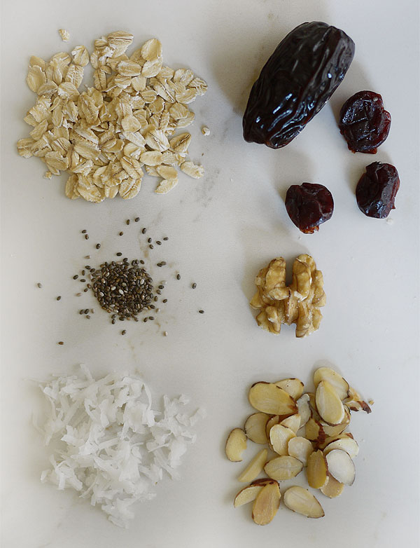overnight oats fried fruit and nuts