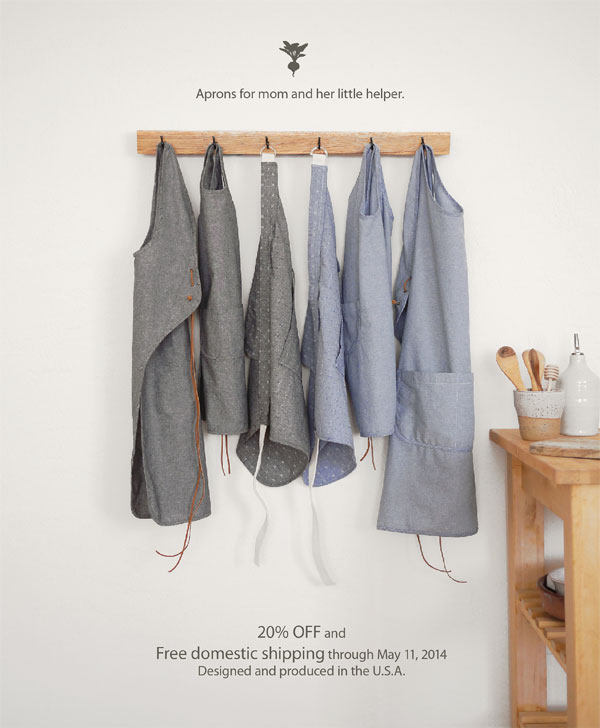 Aprons back in stock: Mother's Day Sale!, Honest Fare by Gabrielle Arnold