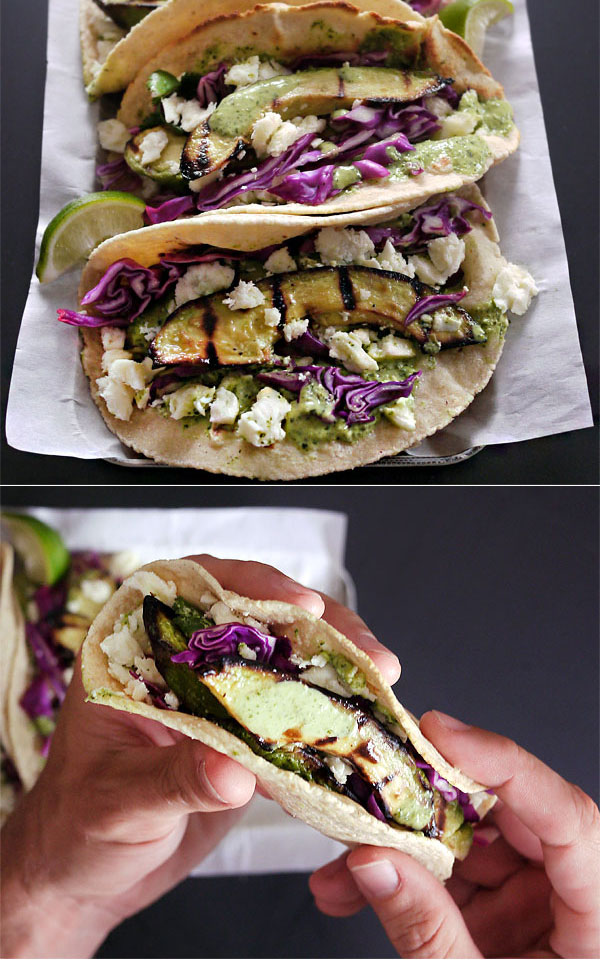 grilled avocado tacos set honestfare.com