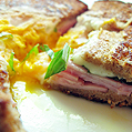 Egg in a hole Sandwich, Honest Fare by Gabrielle Arnold