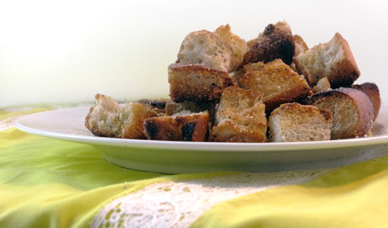 Homemade Croutons, Honest Fare by Gabrielle Arnold