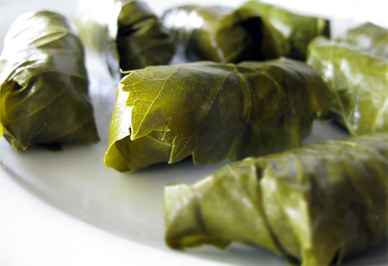 Goat Cheese, Fig & Walnut Stuffed Grape Leaves, Honest Fare by Gabrielle Arnold