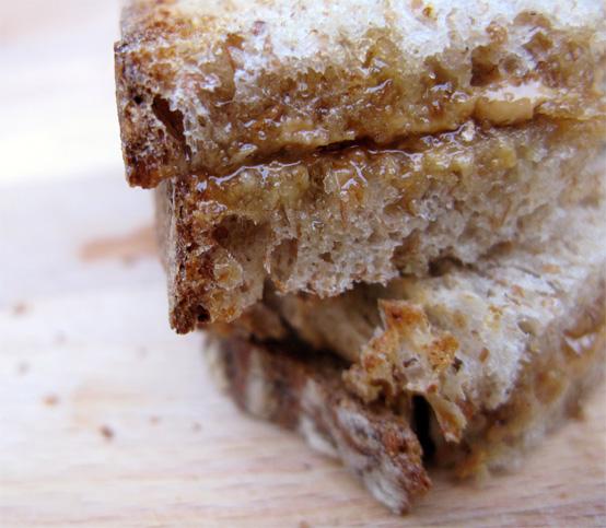 Cashew butter, ginger and honey sandwich, Honest Fare by Gabrielle Arnold