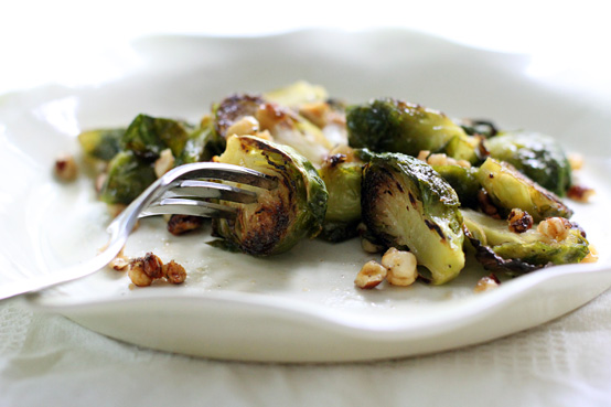 Maple Glazed Brussels Sprouts with Hazelnuts, Honest Fare by Gabrielle Arnold