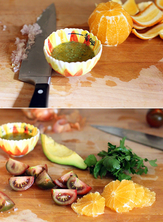 tangelo-salad-process