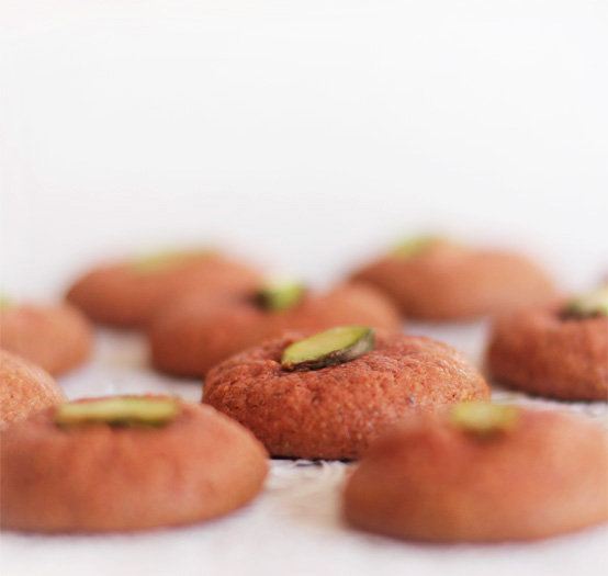 So in Love. Rose Water & Pistachio Macaroons., Honest Fare by Gabrielle Arnold