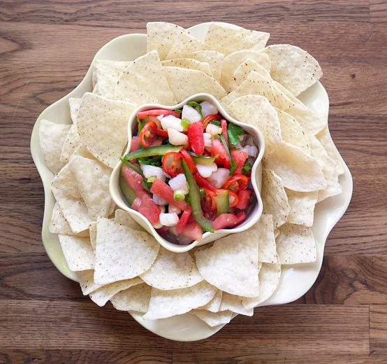 Wow! watermelon and scallop ceviche., Honest Fare by Gabrielle Arnold