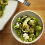 Raw Brussels & Avocado Salad in Tarragon Dressing., Honest Fare by Gabrielle Arnold