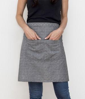 cafe apron-black dobby-pockets-honest fare apron collection