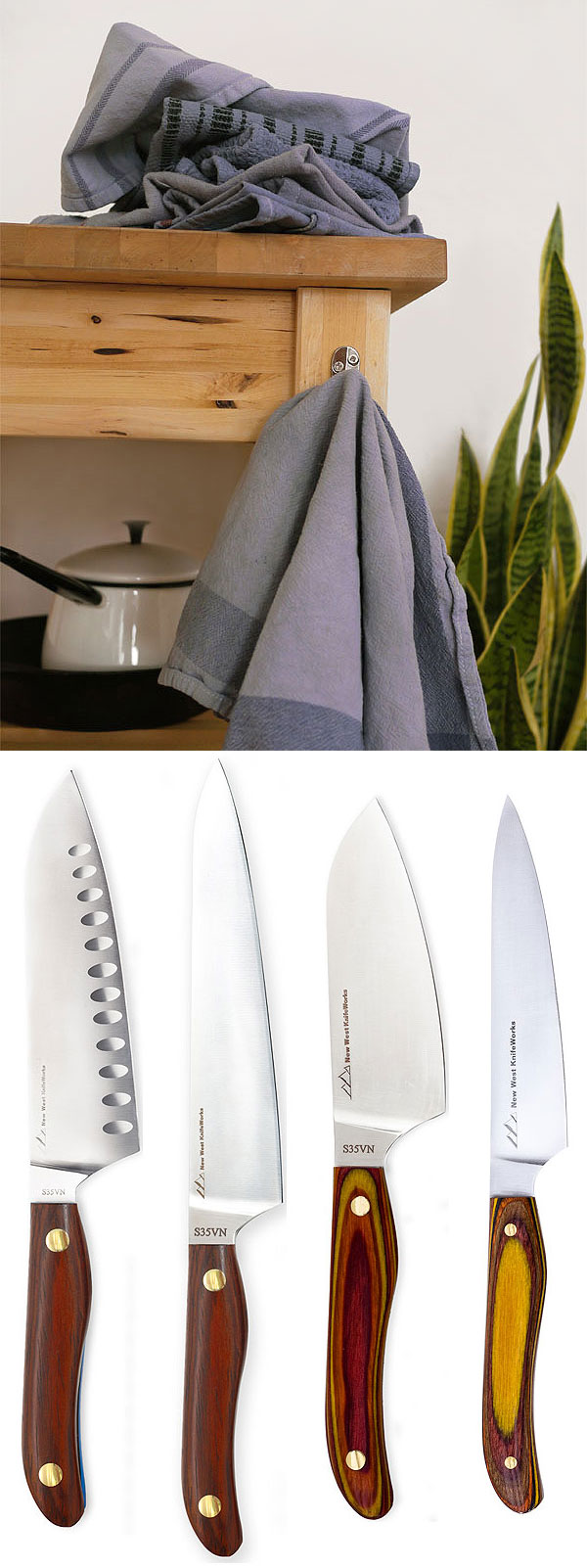 New life for stained kitchen linens…And this 4-piece knife giveaway!, Honest Fare by Gabrielle Arnold