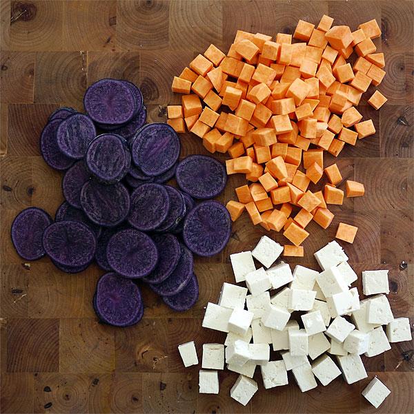 purple potatoes sweet potatoes