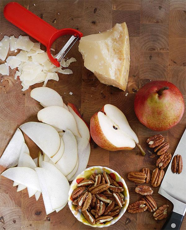 pecans pears parmesan