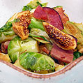 Brussels, Fig & Bacon Salad, Honest Fare by Gabrielle Arnold
