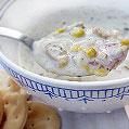 Clam & Corn Chowder, Honest Fare by Gabrielle Arnold