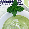 Minty White Bean & Pea Soup, Honest Fare by Gabrielle Arnold